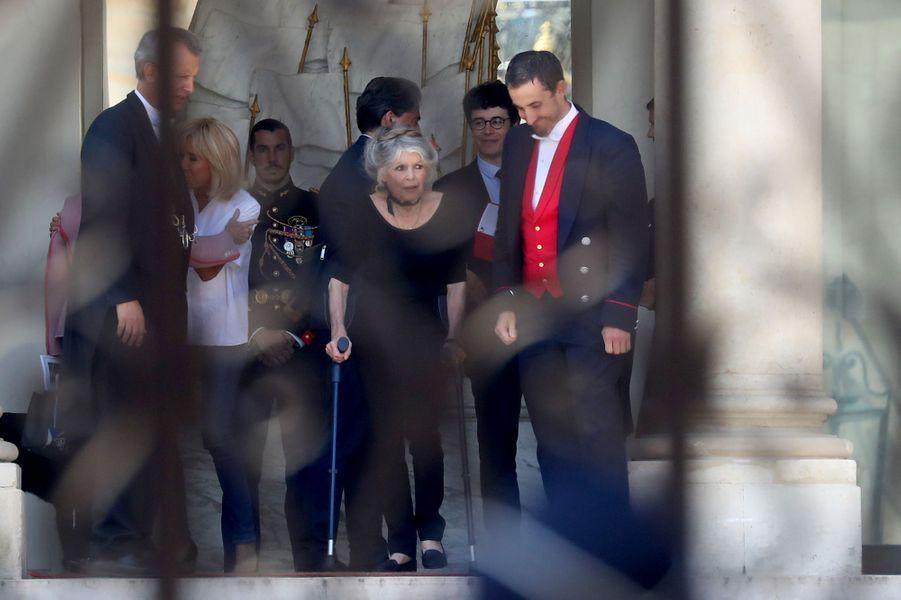 Brigitte Bardot a rencontré mardi le chef de l'Etat et son épouse à l'Elysée.