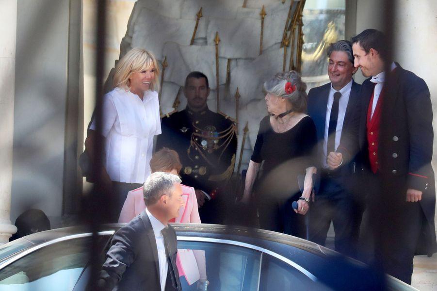 Brigitte Bardot et Brigitte Macron, à l'Elysée mardi.