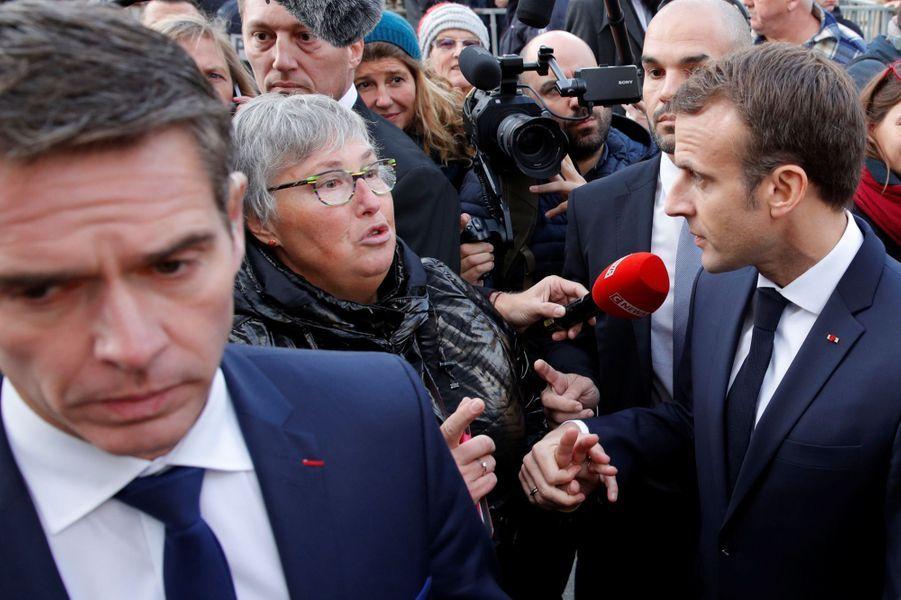 Emmanuel Macron mercredi àCharleville-Mézières.