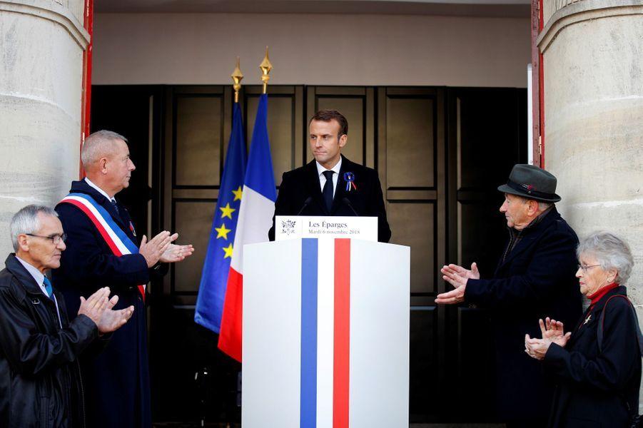Discours d'Emmanuel Macron auxÉparges.