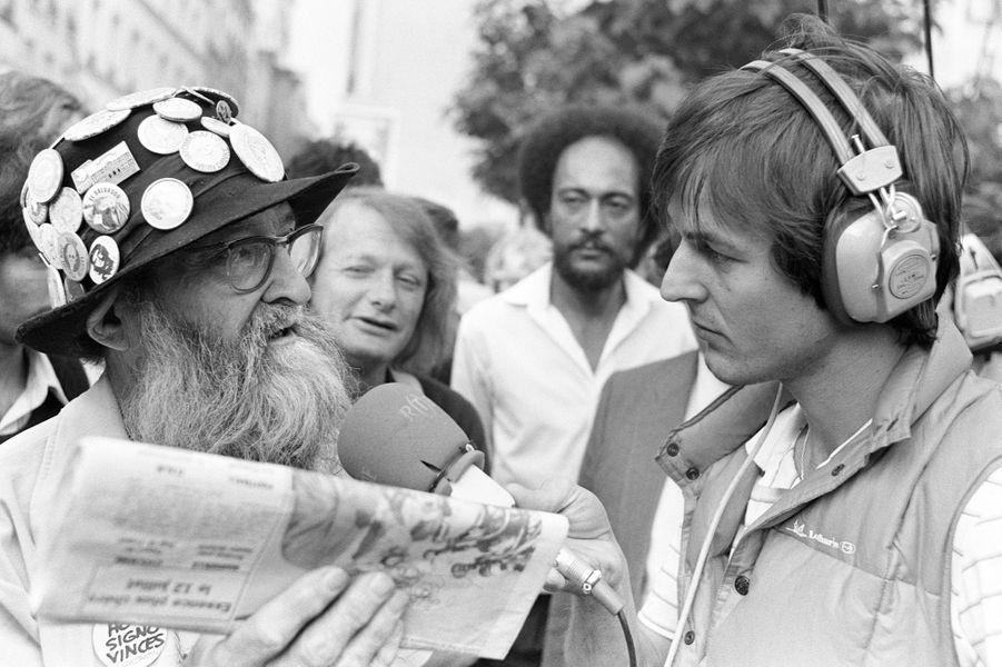 Nicolas Hulot, animateur de radio,le 02 juillet 1982.