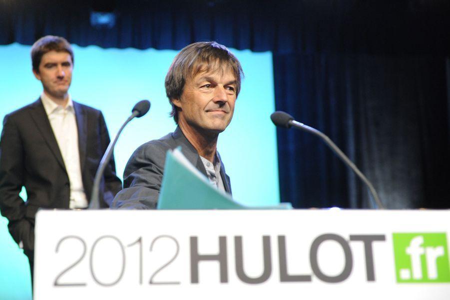 Nicolas Hulot en avril 2011se présente à la primaire des Verts.