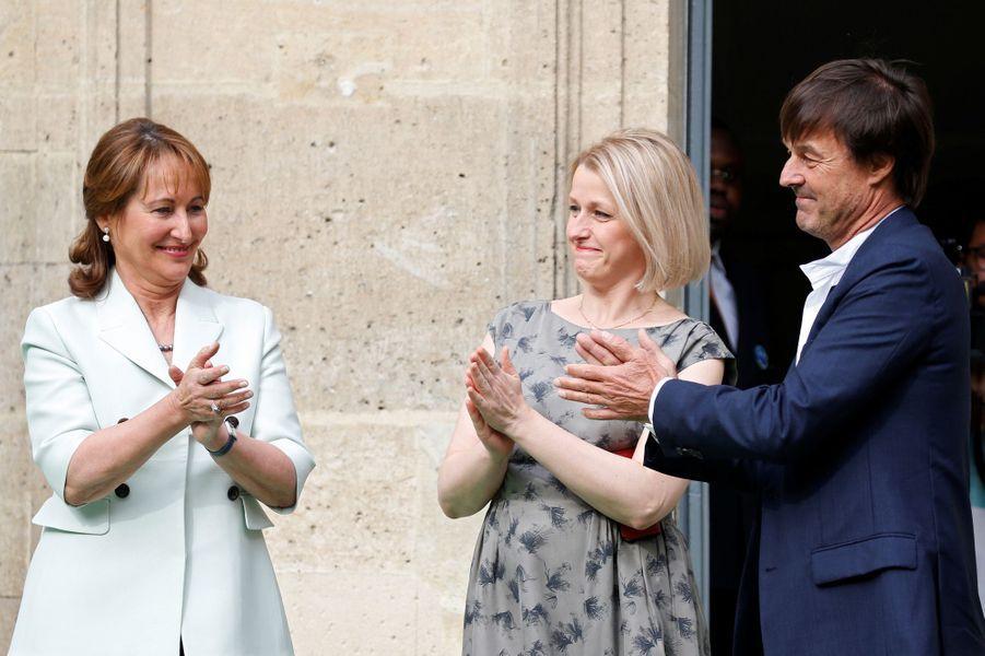 Passations de pouvoir entre Ségolène Royal et Nicolas Hulot, le 17 mai 2017.