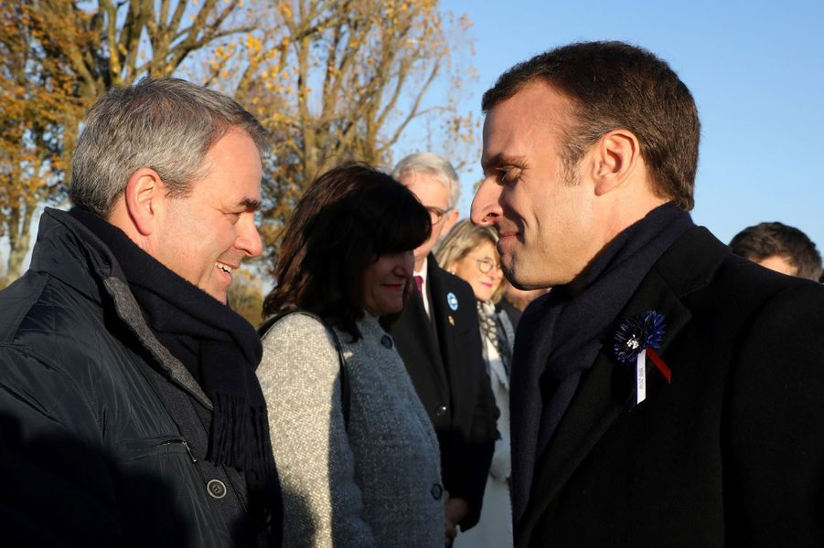 Emmanuel Macron etXavier Bertrand.