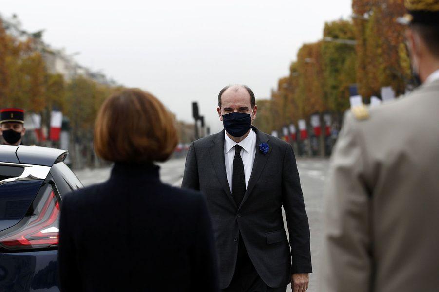 Le Premier ministre Jean Castex lors de la cérémonie à l'Arc de Triomphe.