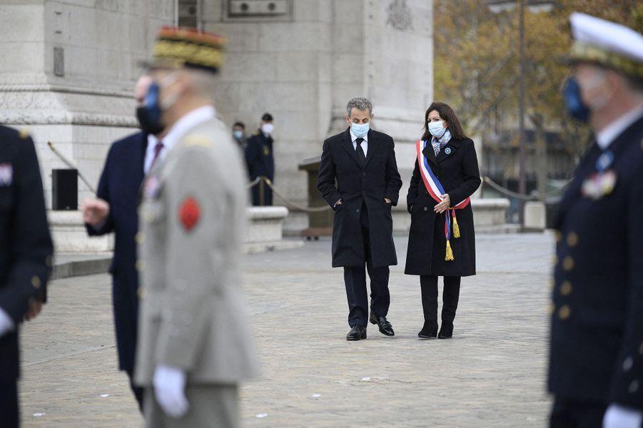 Nicolas Sarkozy et Anne Hidalgo.