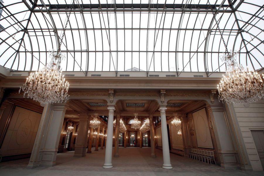 La salle des fêtes de l'Elysée après rénovation. Photo prise mardi 5 février.
