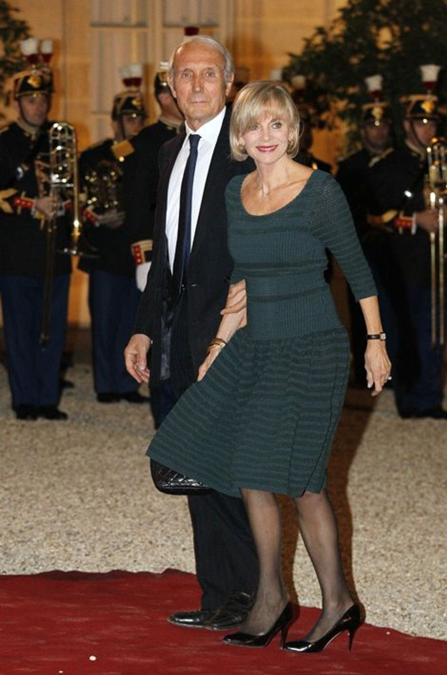 Elisabeth Guigou et son mari au dîner d'Etat donné en l'honneur du président malien à l'Elysée