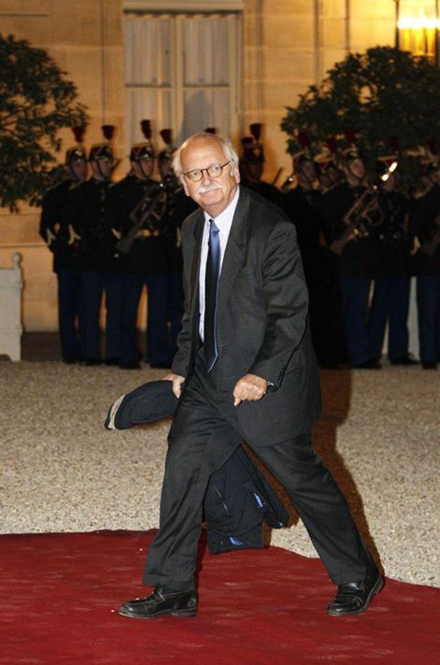 Erik Orsenna au dîner d'Etat donné en l'honneur du président malien à l'Elysée