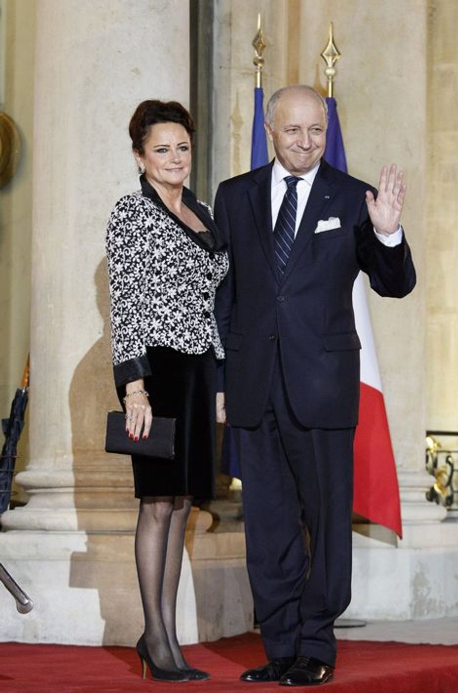 Laurent Fabius et Marie-France Marchand Baylet au dîner d'Etat donné en l'honneur du président malien à l'Elysée