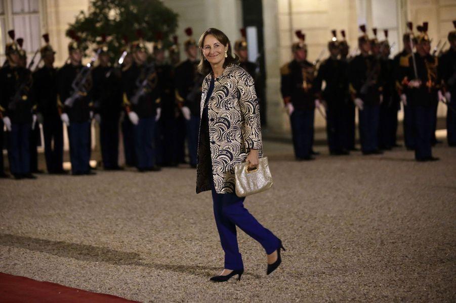 Ségolène Royal au dîner d'Etat donné en l'honneur du président malien à l'Elysée