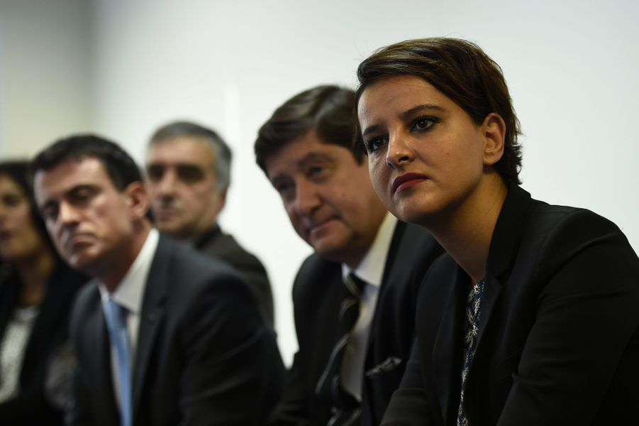 Manuel Valls, Patrick Kanner et Najat Vallaud-Belkacem