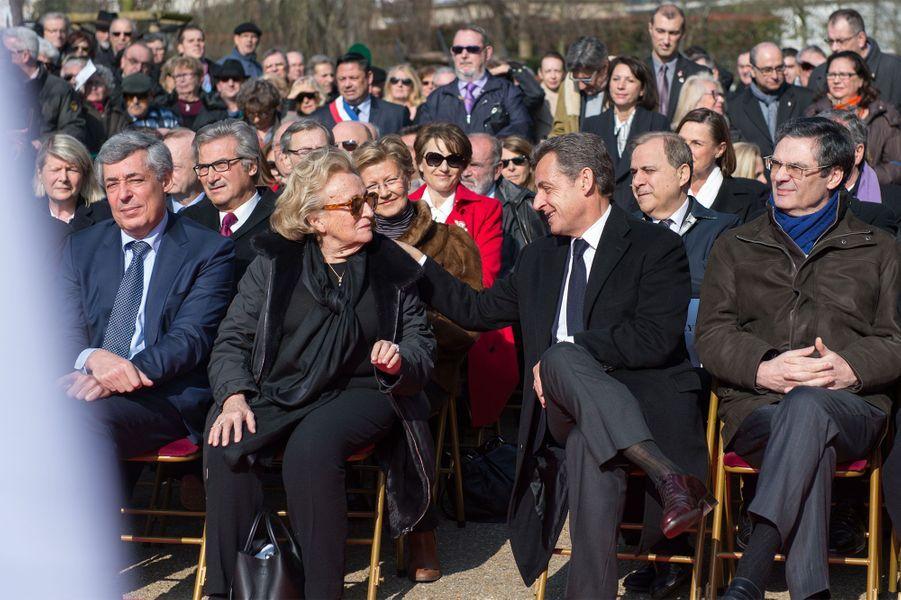 Bernadette Chirac et Nicolas Sarkozy honorent Charles Pasqua