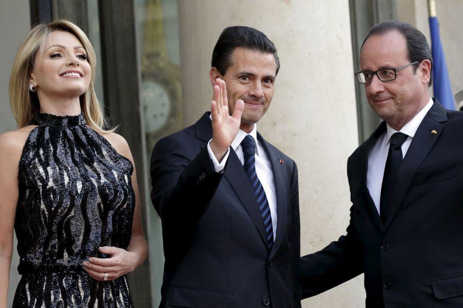 Dîner d'Etat à l'Elysée pour le président mexicain Enrique Peña Nieto et son épouse Angélica Rivera