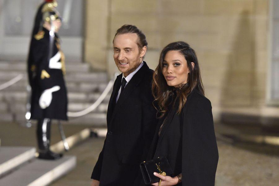 David Guetta et sa compagne, la top cubaine Jessica Ledon