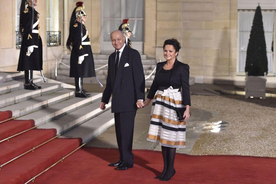 Laurent Fabius et son épouse Marie-France Marchand-Baylet