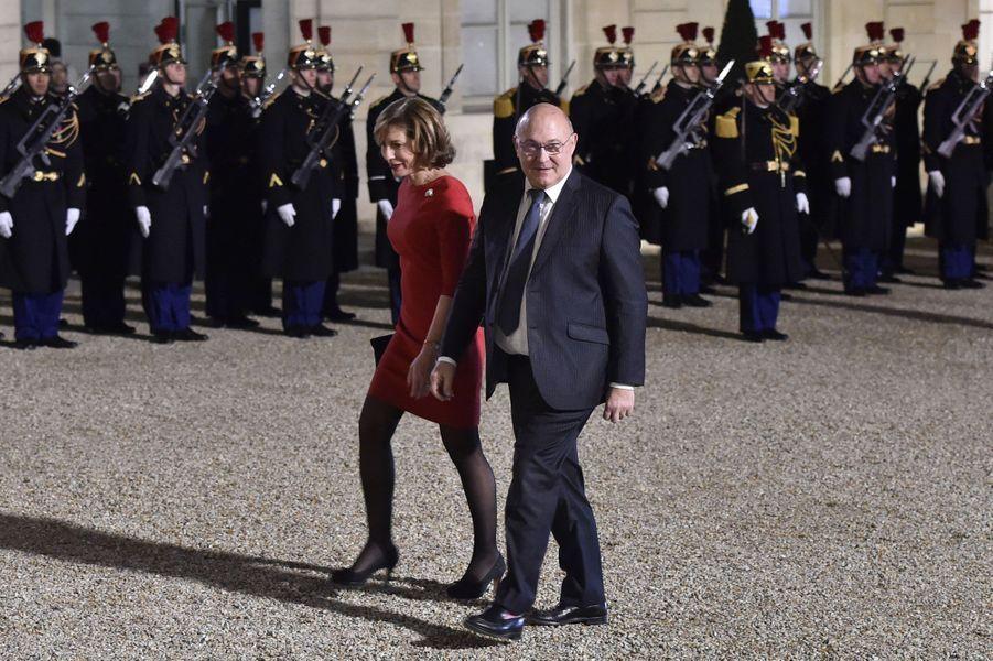 Michel Sapin et son épouse, Valérie