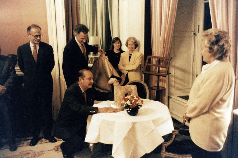29 novembre 1996 : 64ème anniversaire de Jacques Chirac, avec Bernadette Chirac