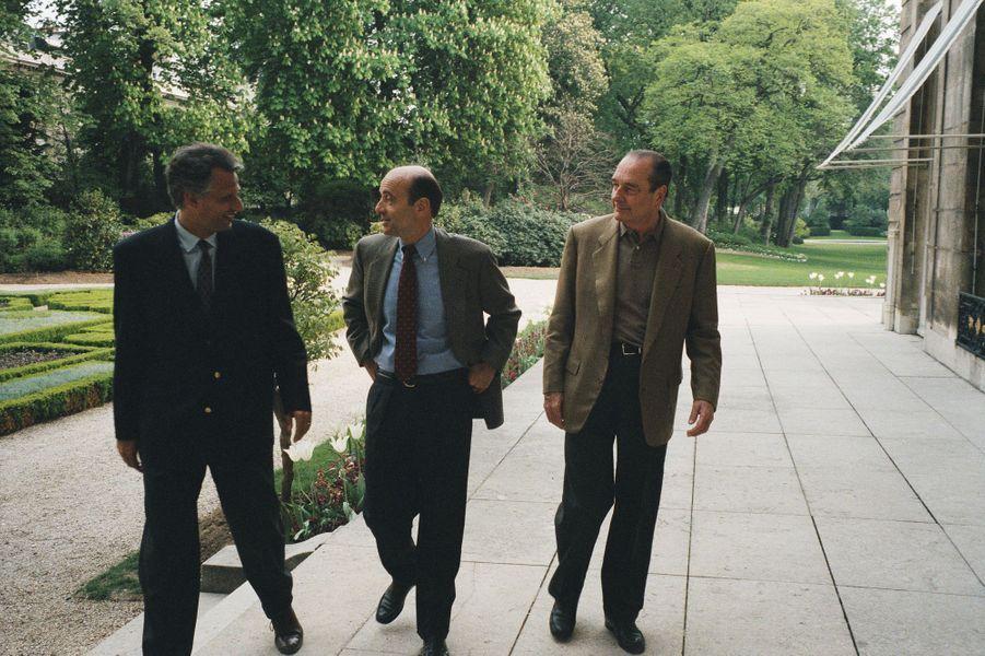 Avec Alain Juppé et Jacques Chirac à l'Elysée en avril 1996