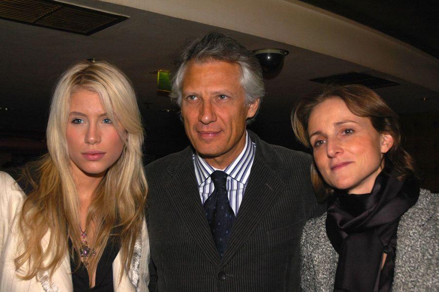 Février 2005 : avec sa famille Marie et son épouse Marie-Laure