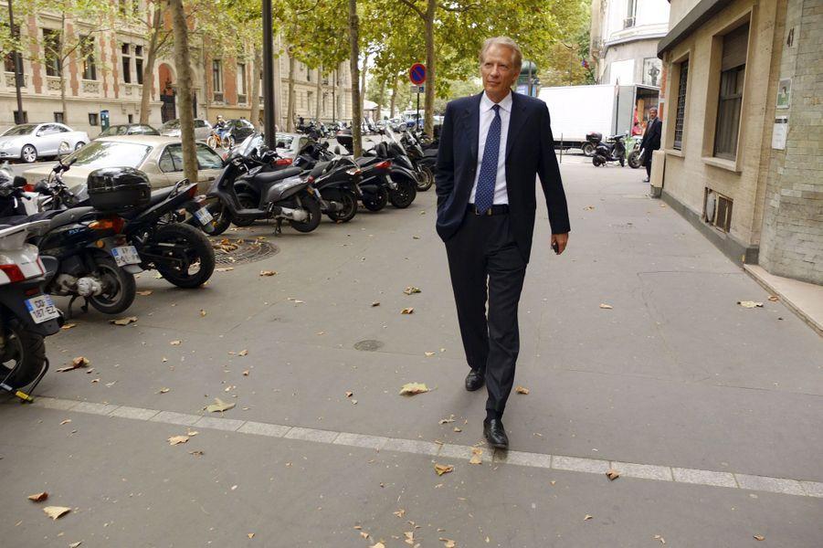 Septembre 2013, à Paris, près de son domicile