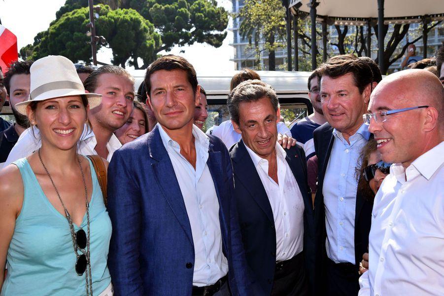 Maud Fontenoy, David Lisnard, Nicolas Sarkozy, Christian Estrosi et Eric Ciotti