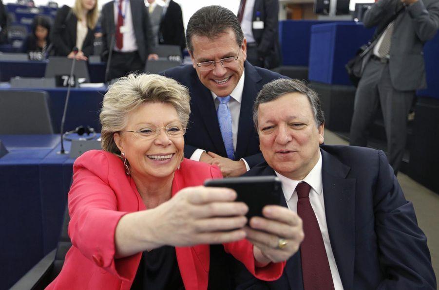Le président de la Commission européenne Jose Manuel Barroso en avril 2014
