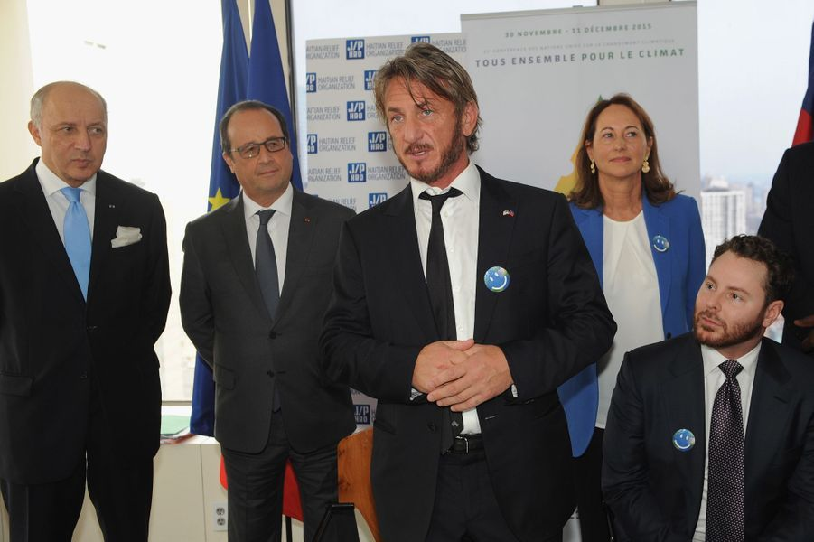 François Hollande retrouve son ami Sean Penn à New York