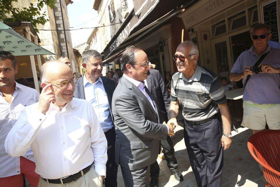 Bernard Cazeneuve, Jean-Pierre Jouyet et François Hollande