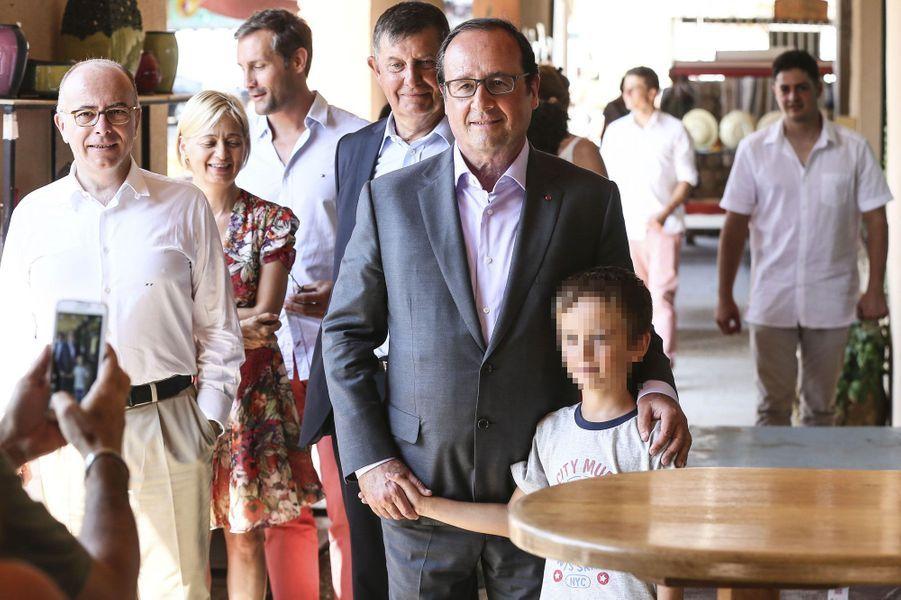 Bernard et Véronique Cazeneuve, Jean-Pierre Jouyet et François Hollande