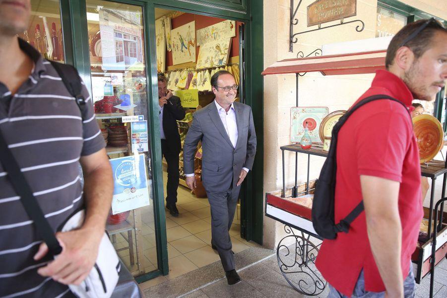 François Hollande à Aiguines