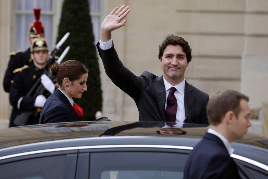 Arrivée du Premier ministre canadien Justin Trudeau