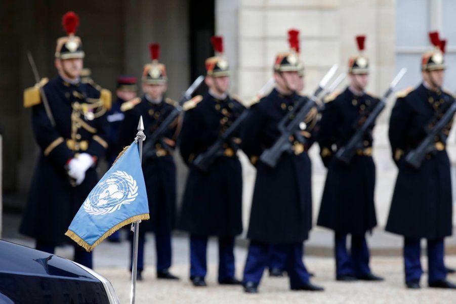 Arrivée du Secrétaire général des Nations unies Ban Ki-moon