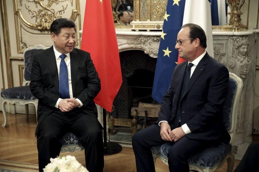 Avec le président chinois Xi Jinping