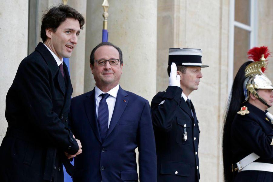 François Hollande et le Premier ministre canadien Justin Trudeau