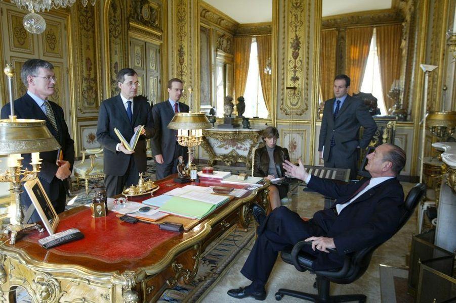 Jacques Chirac et sa garde rapprochée