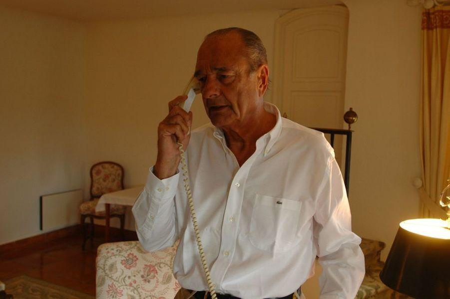 Jacques Chirac reçoit Match dans sa maison de vacances à Brégançon