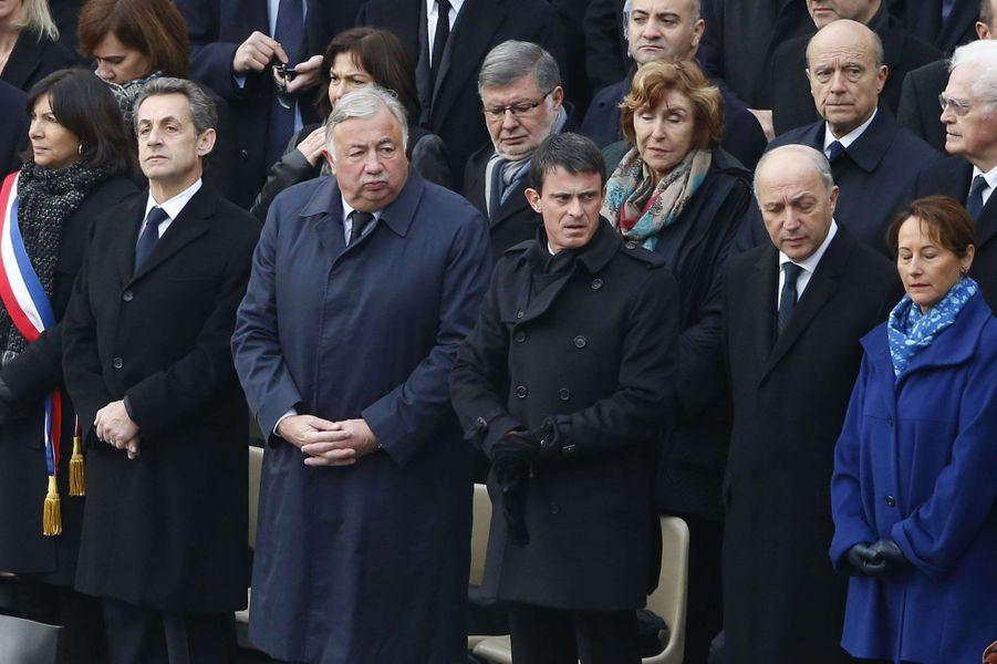 Anne Hidalgo, Nicolas Sarkozy, Gérard Larcher, Manuel Valls, Laurent Fabius et Ségolène Royal
