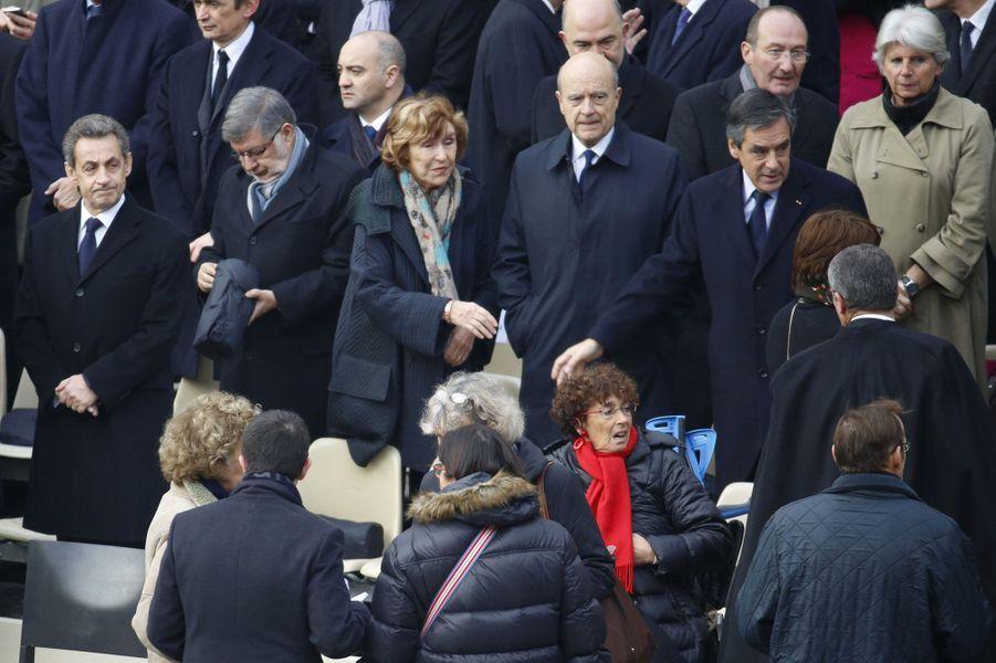 Nicolas Sarkozy, Alain Vidalies, Edith Cresson, Alain Juppé et François Fillon