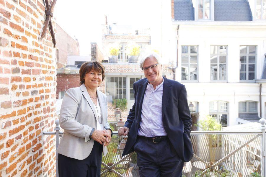 Martine Aubry et Jean-Louis Brochen:La socialiste est tombée sous le charme de ce grand avocat lillois en 1995. Martine Aubry est longtemps restée discrète sur sa vie privée, mais elle a accepté de se confier à Match, avec Jean-Louis, avant la primaire socialiste de 2011.