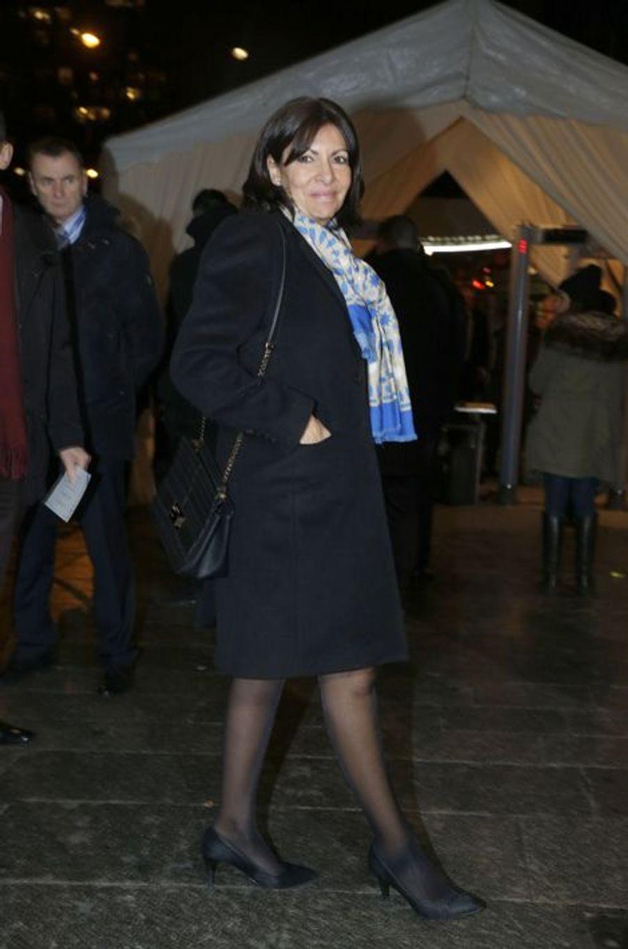 Anne Hidalgo au dîner annuel du Crif à Paris le 7 mars 2016