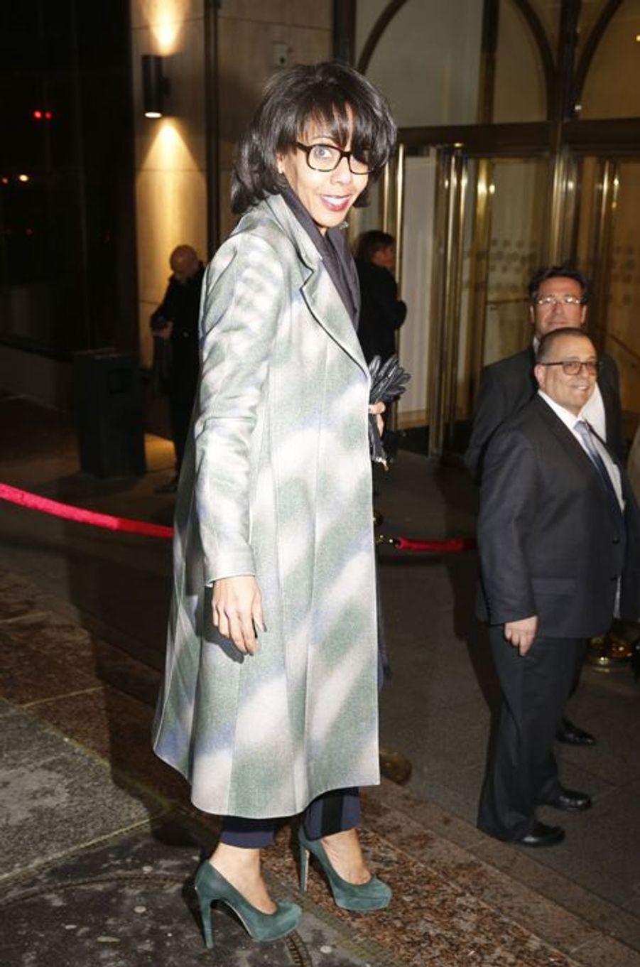 Audrey Pulvar au dîner annuel du Crif à Paris le 7 mars 2016