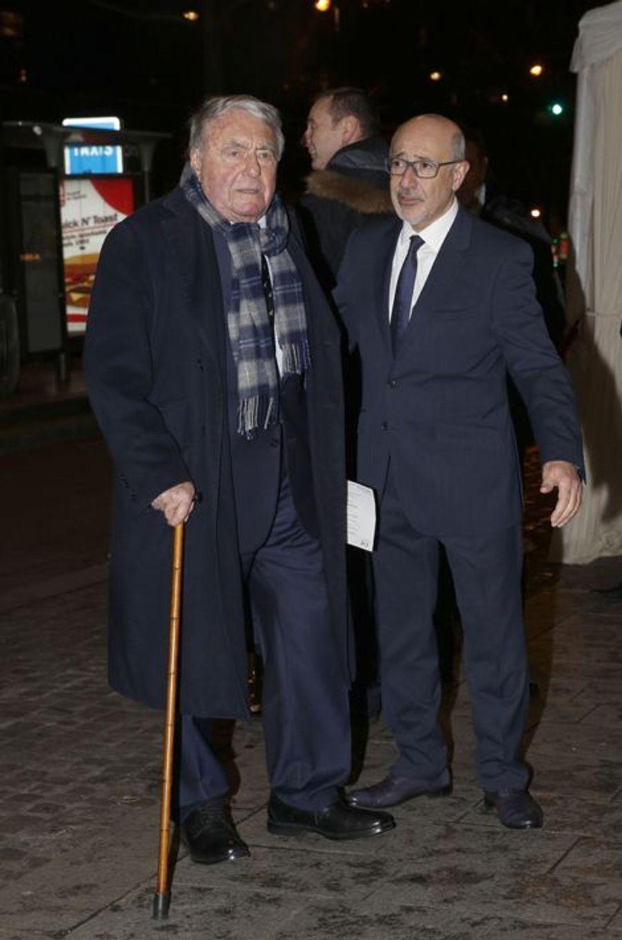 Claude Lanzmann au dîner annuel du Crif à Paris le 7 mars 2016