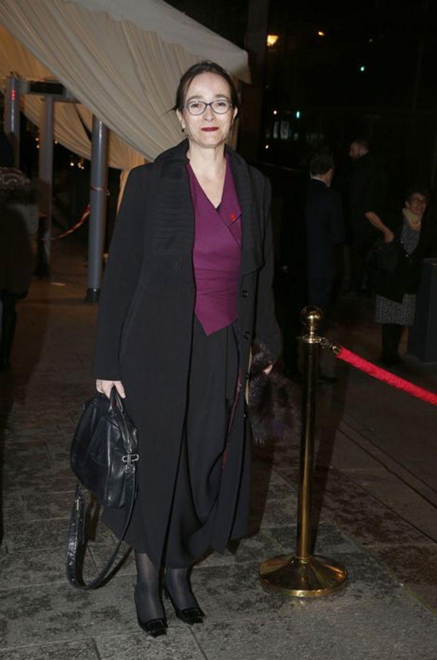 Delphine Ernotte au dîner annuel du Crif à Paris le 7 mars 2016
