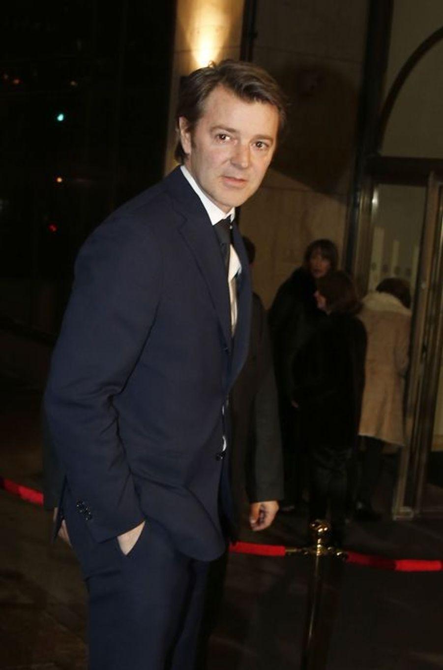 François Baroin au dîner annuel du Crif à Paris le 7 mars 2016