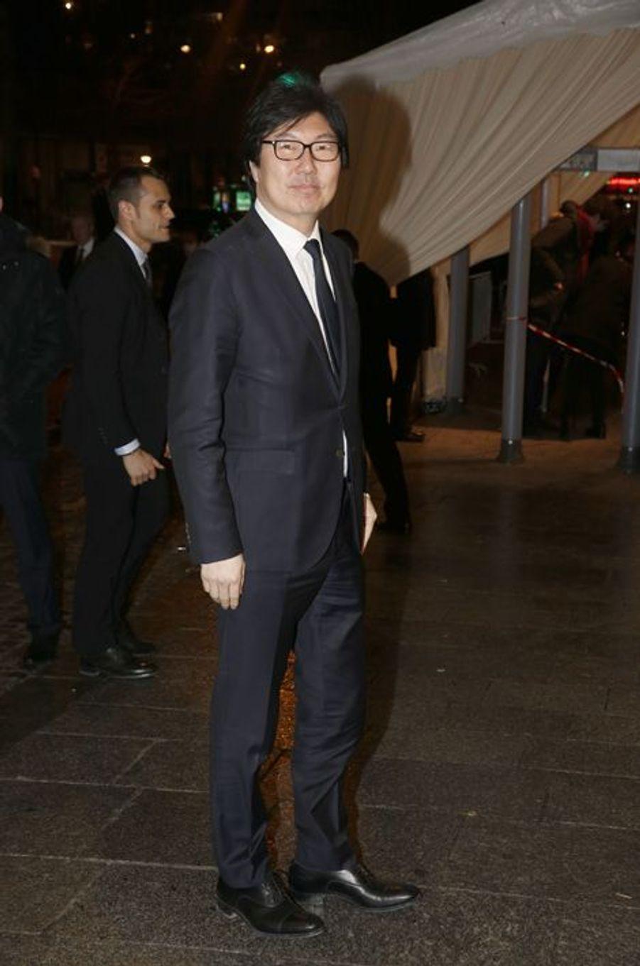 Jean-Vincent Placé au dîner annuel du Crif à Paris le 7 mars 2016