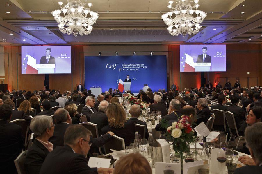 Le dîner annuel du Crif à Paris le 7 mars 2016