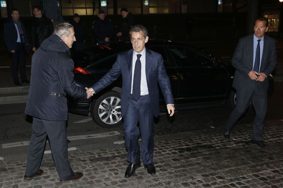 Nicolas Sarkozy au dîner annuel du Crif à Paris le 7 mars 2016