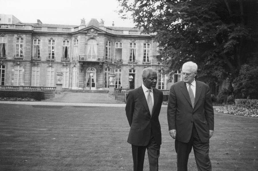 Avec le secrétaire général de l'ONU, Kofi Annan