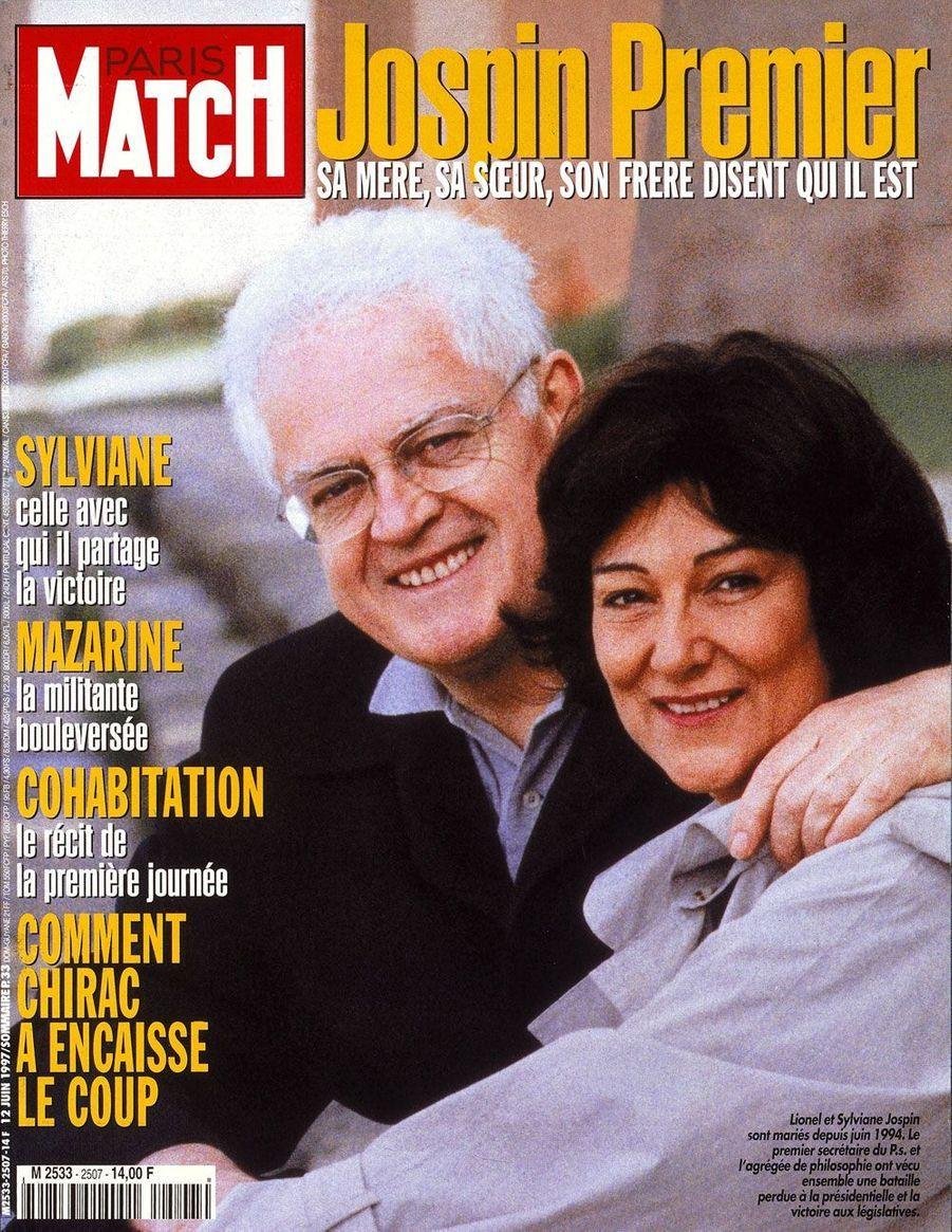 La Une de Paris Match le 12 juin 1997, après la victoire de la gauche